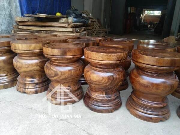 ghế đôn gỗ nguyên khối