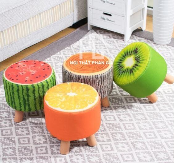 ghế đôn họa tiết trái cây