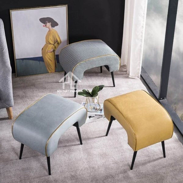 ghế đôn sofa chân sắt