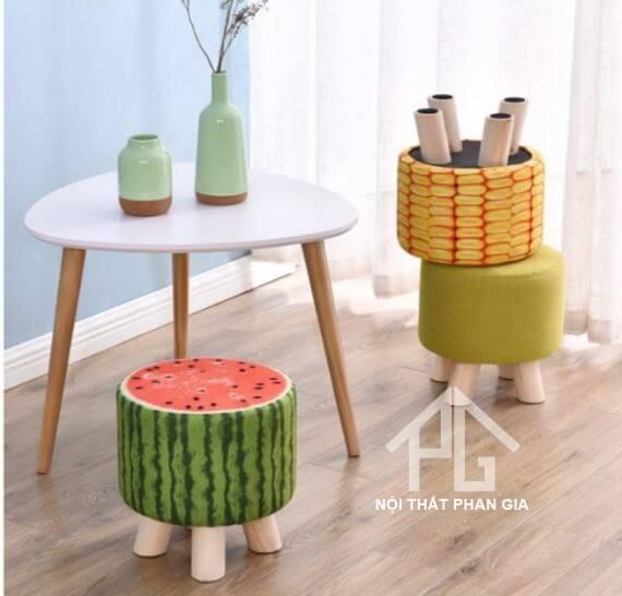 ghế đôn trái cây độc đáo