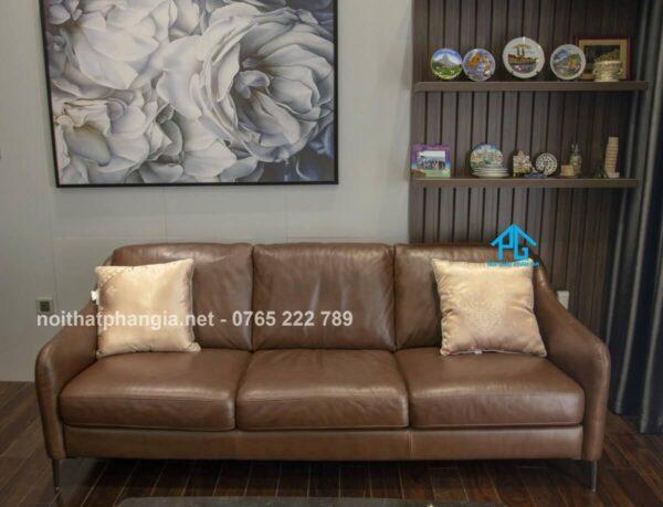 sofa băng da thật