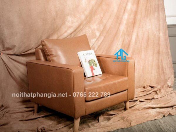 sofa đơn da thật