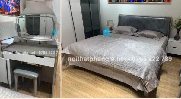 bộ giường tủ gỗ công nghiệp PG1723C