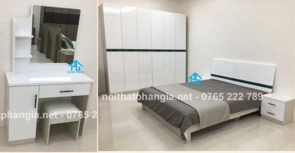 bộ giường tủ hiện đại đẹp nhập khẩu PG3210Z