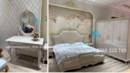 14 Mẫu bộ giường tủ bàn trang điểm đẹp nhập khẩu
