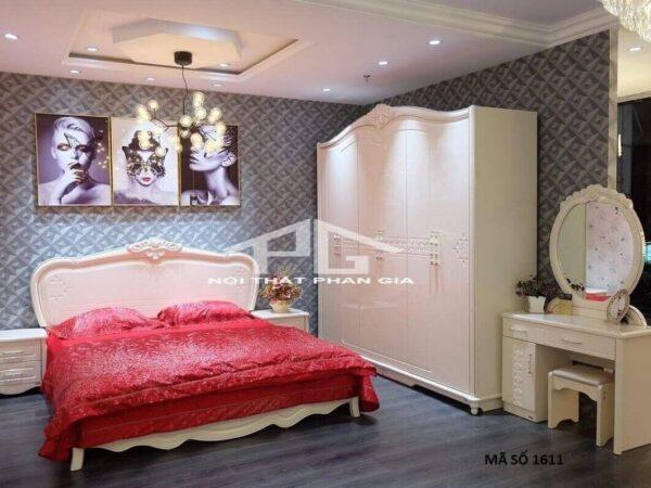 Mẫu giường tủ tân cổ điển ab1616 1m8