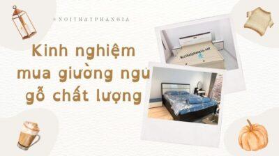 kinh nghiệm mua giường ngủ gỗ